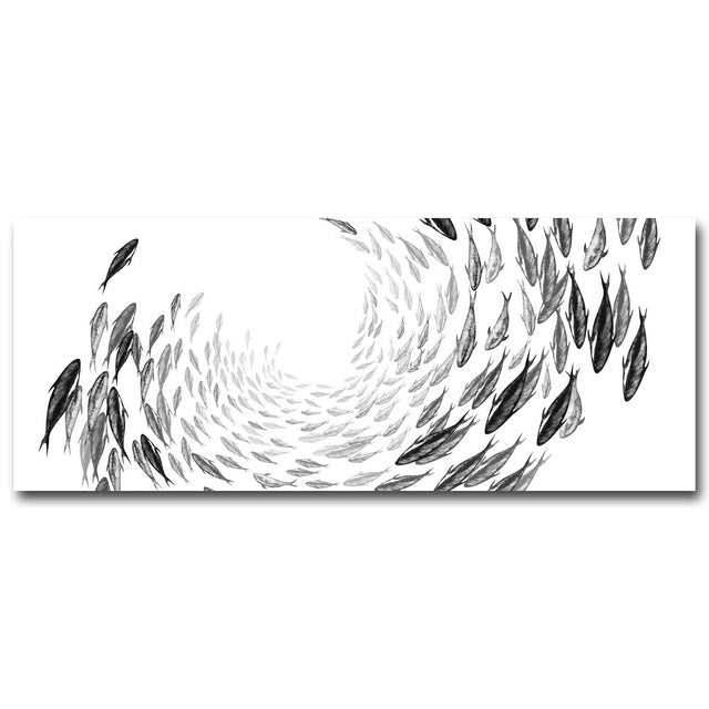Marine Animals Fish Canvas Poster Abstract Minimalist Art Canvas Painting Wall Picture Huge Print Modern Home Room Decor 247