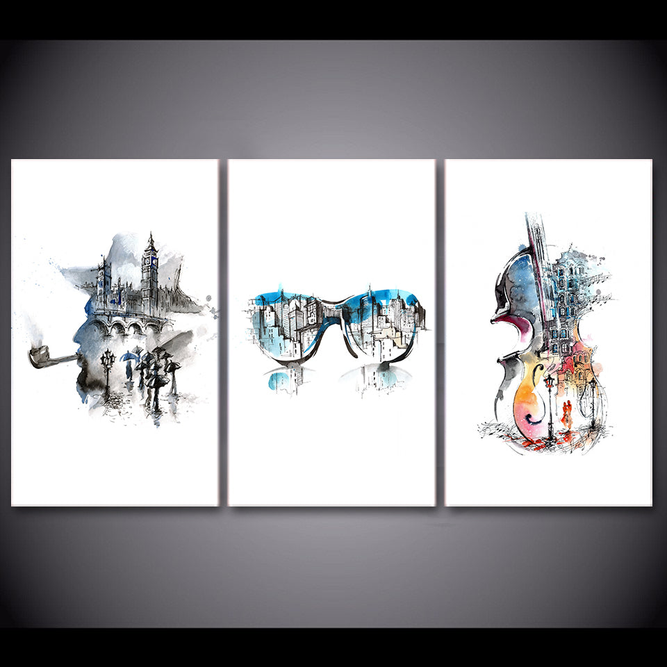 Hd Print 3 Piece Canvas Art Abstract Elegant Guitar Painting Music Wall Poster And Prints Room Decor Free Shipping Cu 2774c