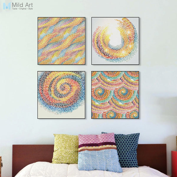 Modern Abstract Colorful Rings A4 Art Print Poster Circle Shape Wall Picture Canvas Painting Living Room Home Decor No Frames