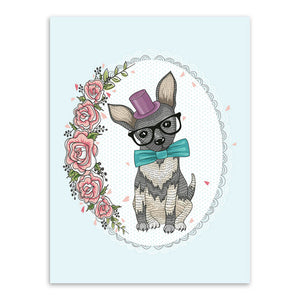 Image of: Shutterstock Triptych Kawaii Animals Flower Giraffe Dog Koala Rural Cottage Art Print Poster Wall Picture Canvas No Triptych Kawaii Animals Flower Giraffe Dog Koala Rural Cottage Art