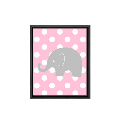 Superieur ... Polka Dot Elephant Canvas Painting Minimalist Nursery Posters Prints  Wall Art Picture For Kids Room Decor ...