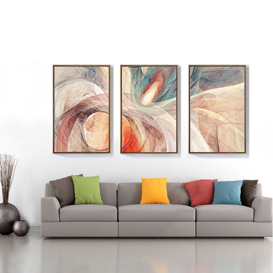 Abstract dynamic lines canvas painting modern fashion posters prints large wall art pictures for living room home decor unframed