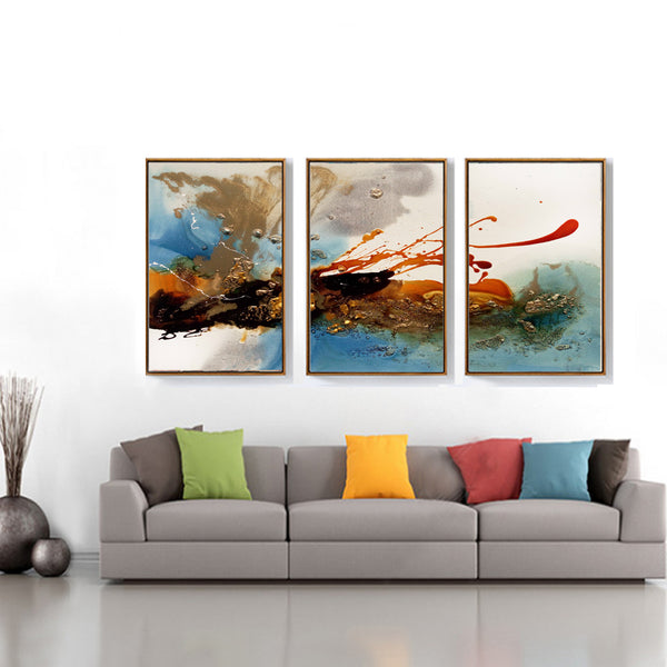 Modern Abstract Clouds Canvas Painting Multi Colors Posters Prints Large Wall Art Pictures for Living Room Home Decor Unframed