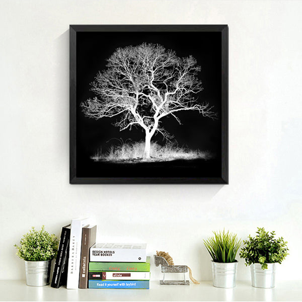 black white tree decorations modular pictures spray painting on the wall modern paintings prints posters canvas pictures HD2050