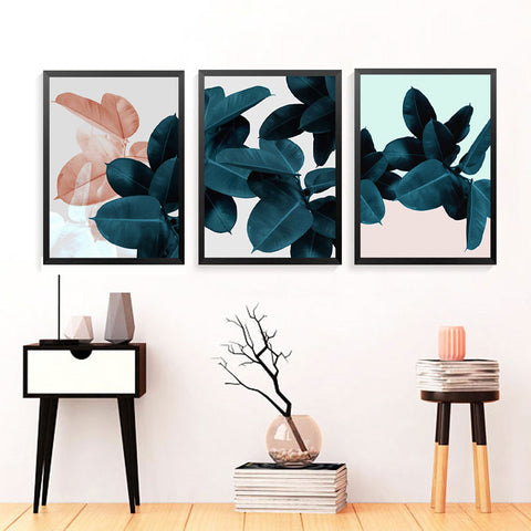 Modern Wall Art Print Poster Fashion Modular Picture Canvas Art Plants Wall Poster Print For Living Room HD2226