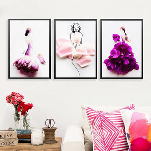 Flower Fairy Canvas Art Print Painting Poster, Canvas Wall Picture For Home Decoration, Abstract Girls Wall Decor WT0031
