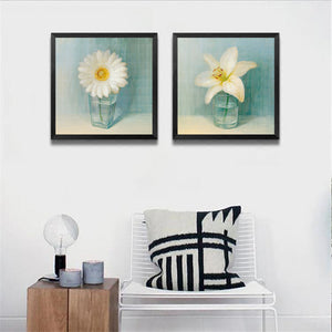 Modern Fresh Flowers Pictures Print Flowers Bottles Canvas Painting Home Bedroom Decoration HD1034