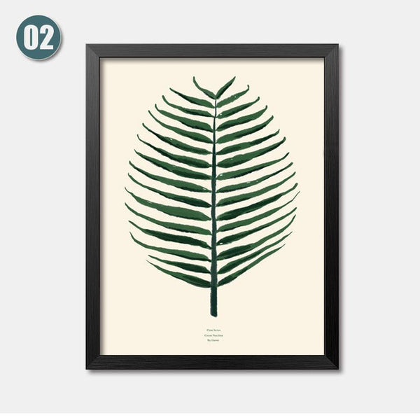 Watercolor Tropical Leaf Canvas Art Print Poster, Wall Pictures for Home Decoration, Giclee Wall Decor HD1839