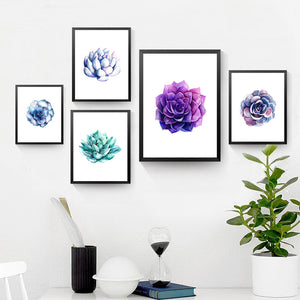 Watercolor Plants Painting Wall Decor Painting Botanical Canvas Art Print Poster, Wall Pictures For Home Decoration HD2161