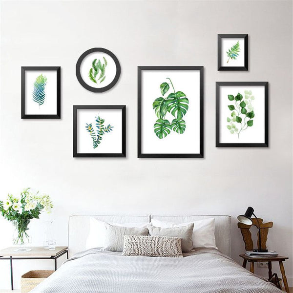 Fresh Plants Green Leaf Canvas Art Print Poster Still Life Wall Picture Canvas Painting Home Decor FG0029
