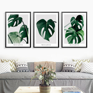 Green Plants Wall Art Poster Decor Painting Cuadros Decoracion Now Quotes The Paintings Canvas Art Print Poster FG0106