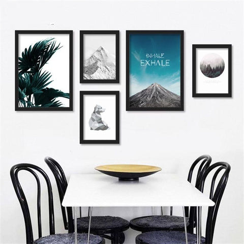 Nordic living room decorative painting landscape restaurant creative wall paintings bedroom simple murals paintings FG0001