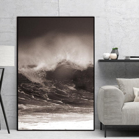 Wave Scandinavian landscape Nordic Abstract Wall Picture Living Room Art Decoration Pictures Canvas Painting Prints No Frame