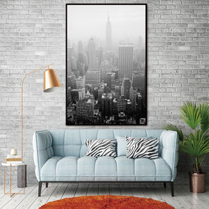 City Building Nordic Abstract Wall Pictures for Living Room Art Decoration Pictures Scandinavian Canvas Painting Prints No Frame
