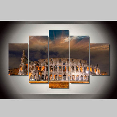 Roman Colosseum 5 Panels Wall Art Canvas Paintings Wall Decorations For  Home Office Artwork Giclee Wall ...