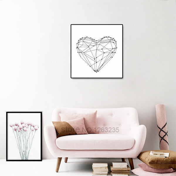 My heart Posters And Prints decorative Wall Art Canvas Painting Nordic Art Print Wall Pictures For Living Room No Poster Frame