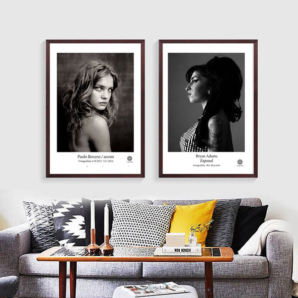 Posters And Prints Wall Art Canvas Painting Cuadros Brown Eye Girl Pictures Wall Pictures For Living Room Nordic No Poster Frame