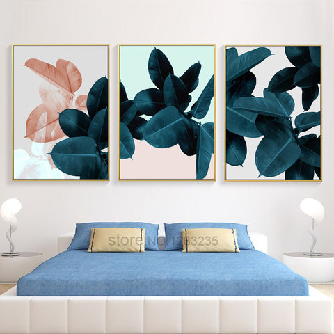 Nordic Poster Plant leaf Picture Posters And Prints Home Decor Wall Art Canvas Painting Canvas Pictures For Living Room Unframed