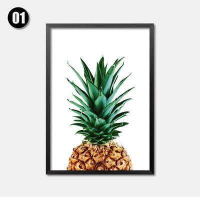 Wall Pictures For Living Room Posters And Prints Pineapple Flamingos Wall Art Canvas Painting Nordic Decoration No Poster Frame