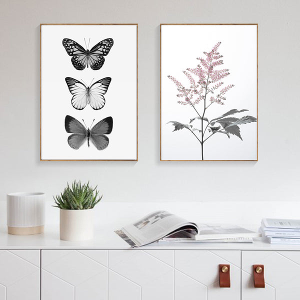 Posters And Prints Wall Art Canvas Painting Wall Pictures For Living Room Black Butterfly Nordic Canvas Prints Poster Unframed