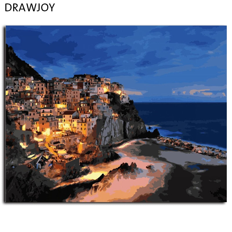 DRAWJOY Framed Pictures DIY Painting By Numbers Home Decoration For Living Room DIY Digital Canvas Oil Painting G451 40*50cm