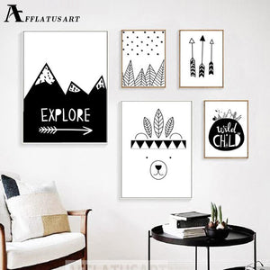 Explore Child Wall Art Canvas Painting Nordic Posters And Prints Black White Nursery