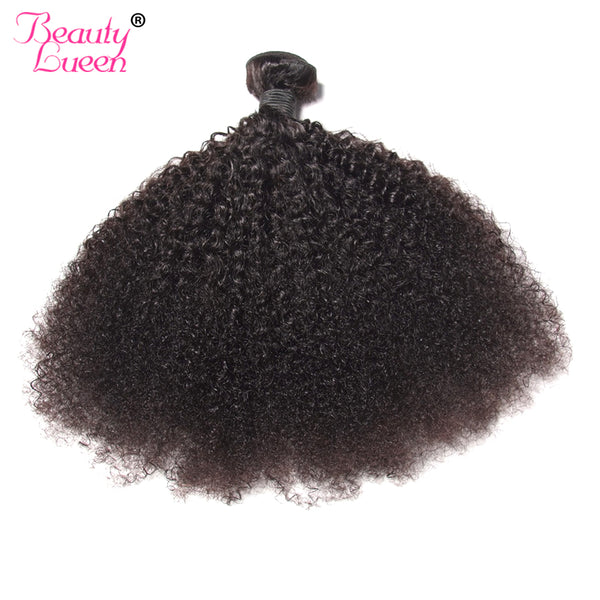 Mongolian Hair Afro Kinky Curly Hair Extension Human Hair Bundles Weave 1 Piece Can Buy 3/4 Bundles Beauty Lueen Non Remy Hair