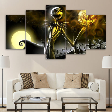 Artsailing HD 5 Piece canvas art painting The Nightmare Before Christmas pictures for living room modern home decor NY-7604B