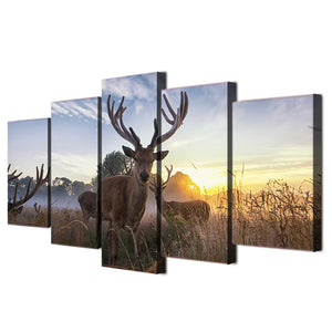 HD Printed Animal deer Painting Canvas Print room decor print poster picture canvas Free shipping/ff-5961