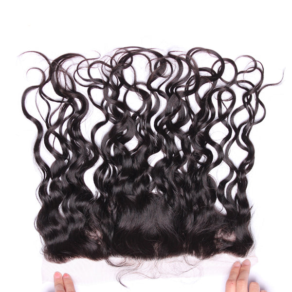 Lace Frontal Closure With Bundles Water Wave Brazilian Human Hair Weave 3 Bundles With 13x4 Silk Base Frontal Prosa Remy