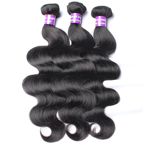 360 Lace Frontal With Bundle Body Wave Brazilian Hair 4 Pcs 3 Human Hair Bundles Add Closure With Baby Hair Prosa Remy
