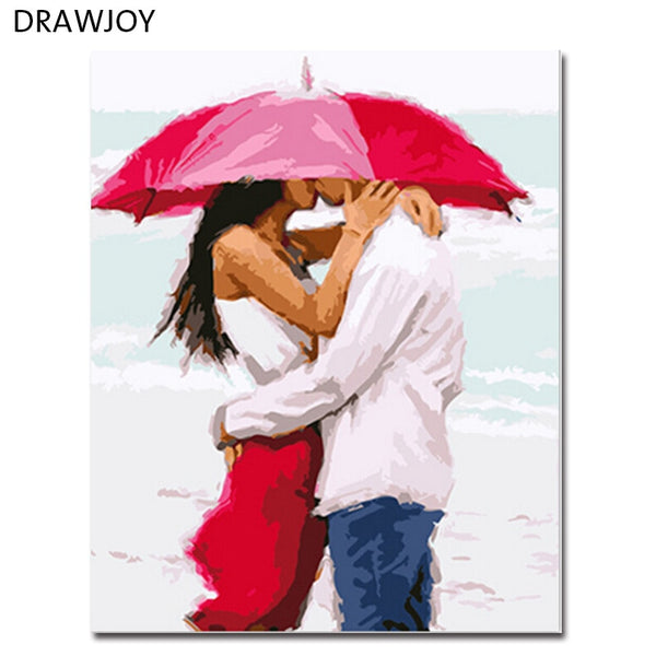 DRAWJOY Framed Wall Art Pictures DIY Oil Painting By Numbers DIY Canvas Oil Painting Home Decor For Living Room GX3037 Picture