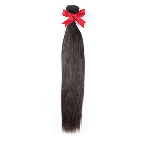 Luvin Raw Indian Hair Bundles Straight Human Virgin Hair Weave 1PC Hair Extensions 12-24inch Natrual Color