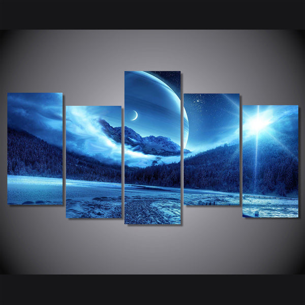 HD Printed sun and moon awesome Painting on canvas room decoration print poster picture canvas Free shipping/ny-4920