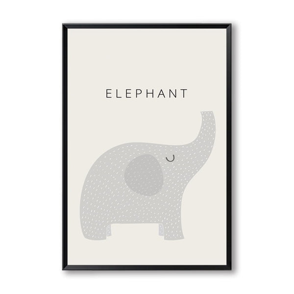 Modern Minimalist Cute Cartoon Children's Room A4 Canvas Painting Art Print Poster Picture