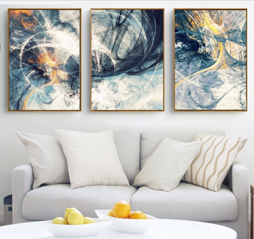 Abstract Art 3 Pieces Canvas Paintings Modular Pictures Wall Art Canvas for Living Room