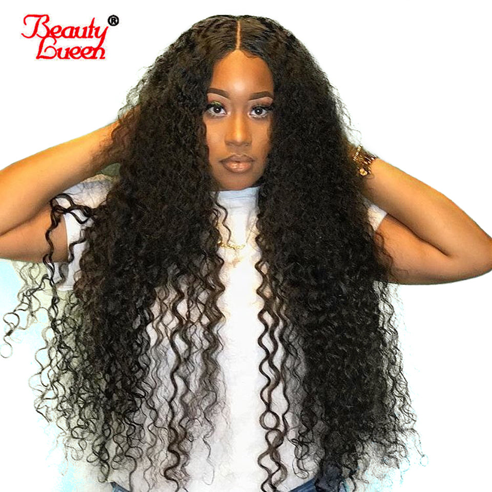 Pre Plucked Lace Frontal Wigs 150% Density Peruvian Deep Wave Lace Front Human  Hair Wigs ... 25ec1e35e