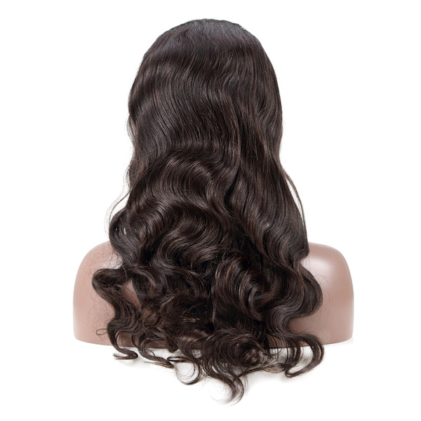 Luvin 360 Lace Frontal Wigs For Women Black Pre Plucked With Baby Hair Brazilian Body Wave Human Hair full Lace Front long Wig