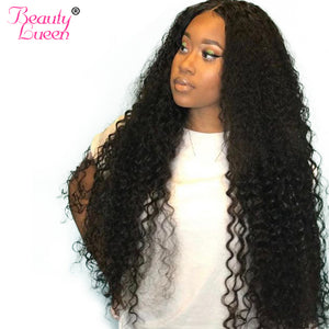 Human Hair Deep Wave Bundles With Closure Brazilian Hair Weave 3/4 Bundles With Closure NonRemy Human Hair Bundles Free Shipping