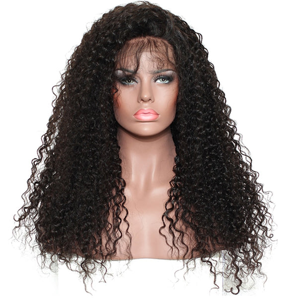 360 Lace Frontal Wig Pre Plucked With Baby Hair 180% Density Brazilian Curly Lace Frontal Human Hair Wigs Prosa Remy
