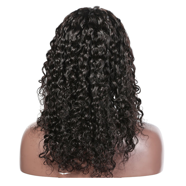 Luvin Loose Deep Wave Short Glueless Lace Front Human Hair BOB Wigs With Baby Hair Brazilian Loose Wave Hair Wigs Bleached Knots