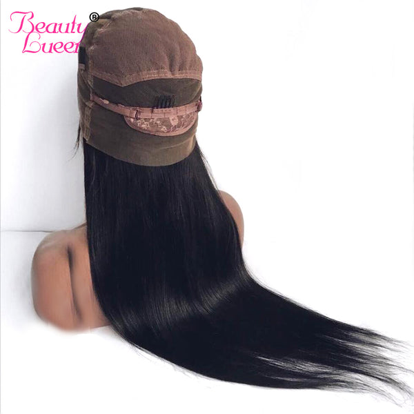 Peruvian Straight Lace Front Wigs Pre Plucked With Baby Hair Remy Lace Front Human Hair Wigs For American African Women