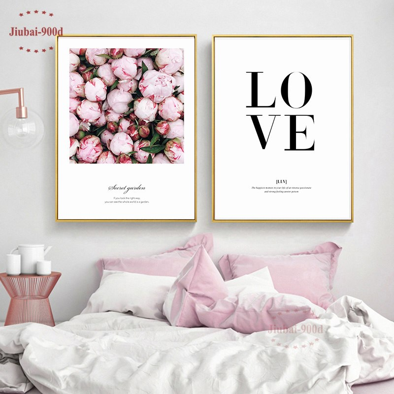 Nordic Poster Canvas Painting Poster, Flower Wall Pictures