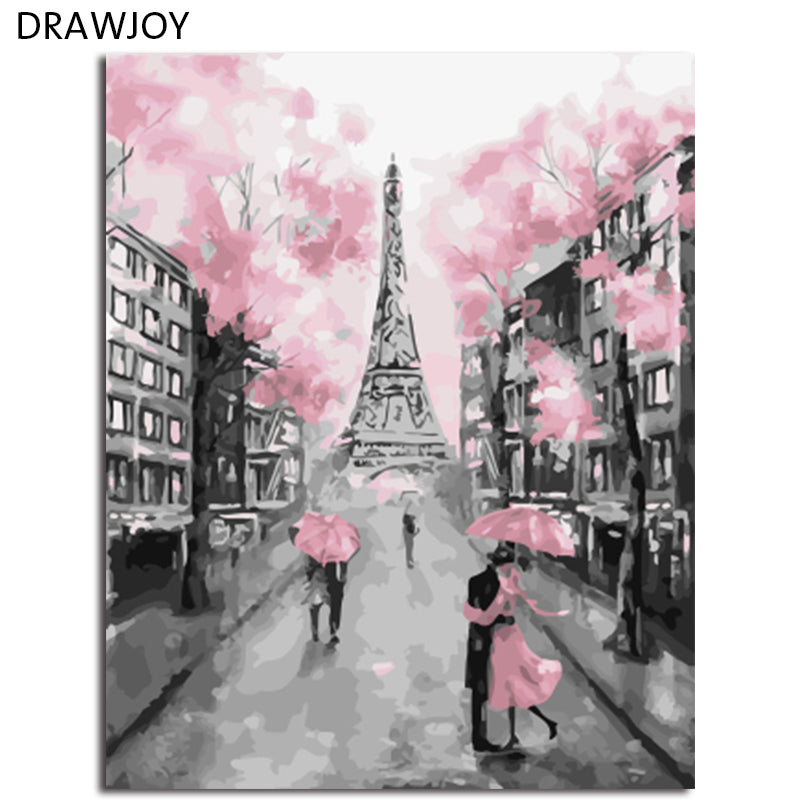 DRAWJOY Framed DIY Wall Paint Pictures Painting By Numbers Painting&Calligraphy DIY Oil Painting Home Decor For Living Room
