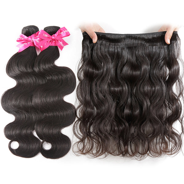 Luvin Cheap Brazilian Hair Weave Bundles Body Wave Human Hair 3 4 Bundles With Closure Wavy And Lace Closure Remy Hair Extension