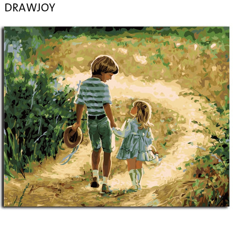 Framed Picture Painting By Numbers DIY Canvas Oil Painting Home Decor For Children's Living Room Decor Wall Art 40*50cm G027