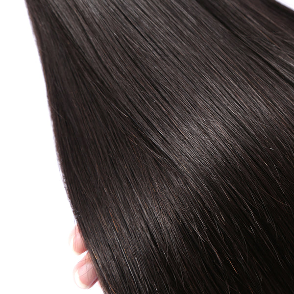 Luvin Brazilian Hair Weave Bundles Straight 100% Human Hair 30 Inch Bundles Natural Color Remy Hair Weft Hair Extension