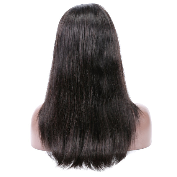 Luvin Full Lace Wigs Human Hair With Baby Hair Pre Plucked Straight Lace Front Wig Brazilian Lace Frontal Wigs For Black Women