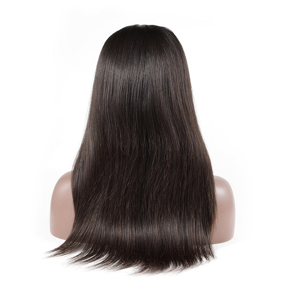 Luvin Glueless Bob Lace Front Human Hair Wigs Straight Natural Color Brazilian Remy Hair Wigs For Black Women lace frontal wig