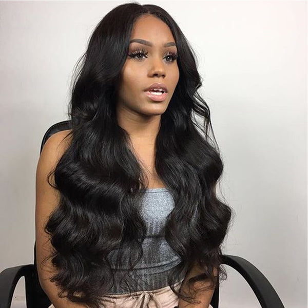 360 Lace Frontal Wig Pre Plucked With Baby Hair 150% Density Peruvian Body Wave Lace Front Human Hair Wigs Remy Beauty Lueen